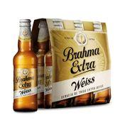 Cerveja Brahma Extra Weiss 355ml Caixa (6 Unidades)