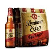 Cerveja Brahma Extra Red Lager 355ml Pack (6 unidades)