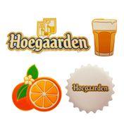 Boton emborrachado Hoegaarden - 4 unidades