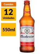 Cerveja Budweiser 550ml Caixa (12 Unidades)