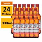 Cerveja Budweiser 330ml Caixa (24 Unidades)
