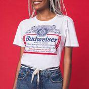 Camiseta Budweiser Silk Branca