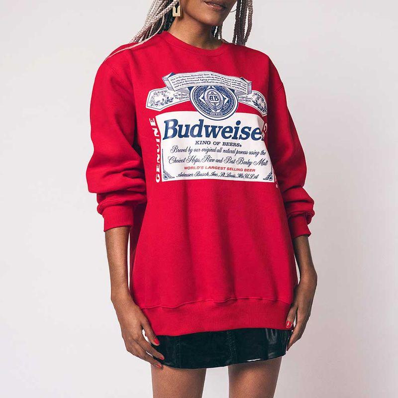 blusa-budweiser-moletom-vermelha