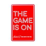 "Display Luminoso Budweiser ""The Game is on"""