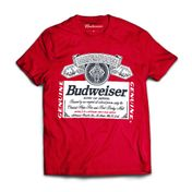 Camiseta Budweiser Silk Vermelha