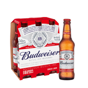 Cerveja Budweiser 330ml Pack (6 Unidades)