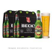 Cerveja Beck's 330ml Pack (12 unidades) + 1 Copo Beck's 300ml