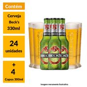 Super Kit Beck's (24 Garrafas + 4 Copos)