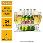 Super Kit Stella Artois (24 Cervejas + 4 Cálices)