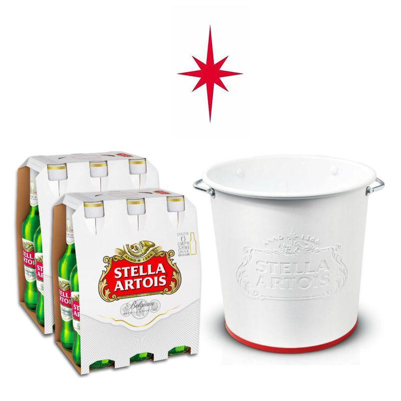 Kit-Stella-Artois-2-packs--12-Unidades----Balde-Alto-Relevo