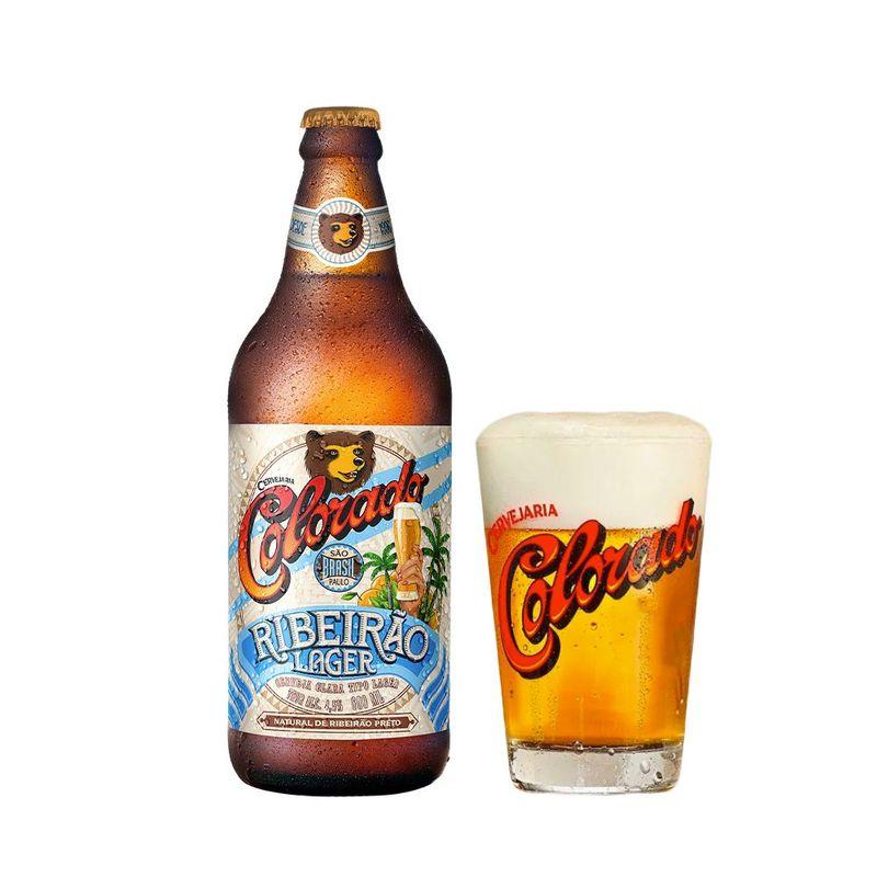 Kit-Cerveja-Colorado-Ribeirao-Lager-600ml---Copo-Colorado-350ml
