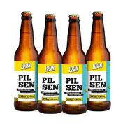 Kit Cerveja Lohn Bier Pilsen 355ml - 4 Unidades