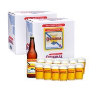 Kit 24 Cervejas Original 600ml + 12 Copos Original 190ml