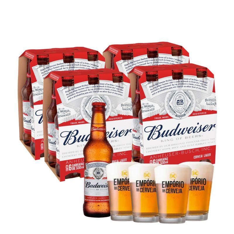 Kit-Long-Neck-Budweiser-Com-Copos