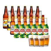 Kit Cervejas Clássicas (24 unidades) + 4 Copos Empório da Cerveja 350ml