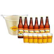 kit Cerveja Original Completo (6 Cervejas + Balde + 6 Copos)