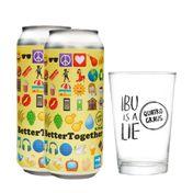 Kit 2 Cervejas Better Together + 1 Copo Quatro Graus
