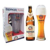 Kit Cerveja Erdinger Weiss 1 Garrafa 500ml + 1 Copo 500ml