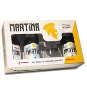 Kit Martina 3 cervejas e 1 copo