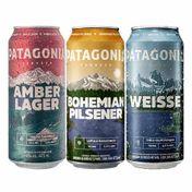 Kit Cervejas Patagonia 473ml (Weisse + Bohemian Pilsener + Amber Lager)