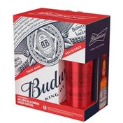 Kit Budweiser (4 Cervejas Budweiser 330ml + Copo)