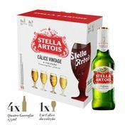 Kit Stella Artois (4 Cervejas Stella Artois 275ml + Cálice Vintage)