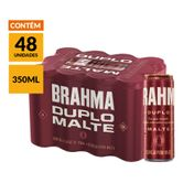 Cerveja Brahma Duplo Malte 350ml Pack (48 Unidades)