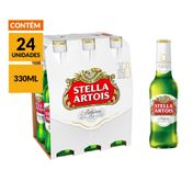 Cerveja Stella Artois 330ml - 24 Unidades