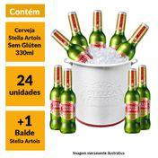 Kit Stella Artois Sem Glúten (24 unidades) + Balde Stella Artois