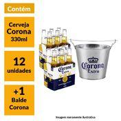 Kit Cerveja Corona 330ml (12 unidades) + Balde Corona