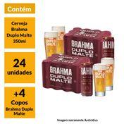 Super Kit Brahma Duplo Malte (24 Cervejas + 4 Copos)