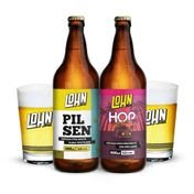 Kit Lohn Bier (1 cerveja Pilsen + 1 cerveja Hop Lager + 2 copos )