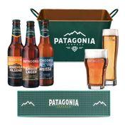 Kit Patagonia (6 cervejas 355ml + 2 Copos + Balde + Barmat)