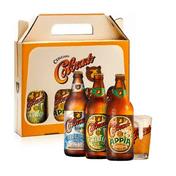 Kit Presente Colorado Ribeirão Lager, Appia e Cauim + 1 Copo Oficial
