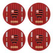 Kit 4 Bolachas Flamengo Brahma