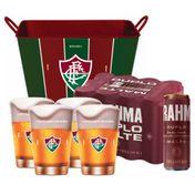 Kit Brahma Super Torcedor Fluminense (Balde + 4 calderetas + 12 cervejas GRÁTIS)