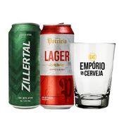 Kit Cerveja Patricia 473ml + Cerveja Zillertal 473 + 1 Copo Empório da Cerveja