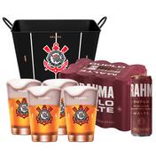 Kit Brahma Super Torcedor Corinthians (Balde + 4 calderetas + 12 cervejas GRÁTIS)