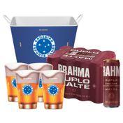 Kit Brahma Super Torcedor Cruzeiro (Balde + 4 calderetas + 12 cervejas GRÁTIS)