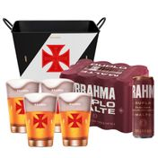 Kit Brahma Super Torcedor Vasco (Balde + 4 calderetas + 12 cervejas GRÁTIS)