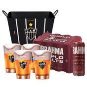 Kit Brahma Super Torcedor Atlético Mineiro (Balde + 4 calderetas + 12 cervejas GRÁTIS)