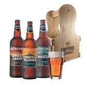 Kit Presente Patagonia + Engradado Empório da Cerveja